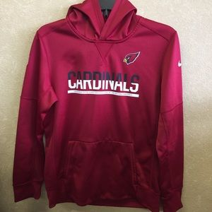 Nike Shirts & Tops - Nike boys size 14 NFL cardinal hoodie therma fit